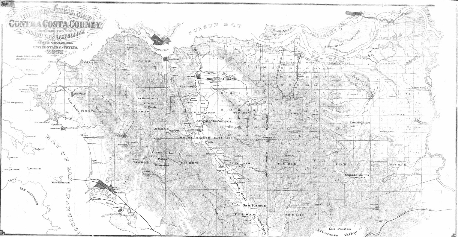 El Cerrito Historical Society History Of California 2nd Judicial Circuit Maps This Map Shows Contra Costa County With Mdb M Lines Under Mapping Surveying The Is Divided Into 6 Mile Square Quadrants Centered